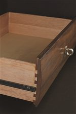 Drawers Feature English Dovetail Drawer Construction and Finished Drawer Interior