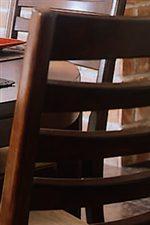 Slats on select chair backs add interest
