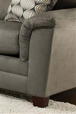 Unique Arms with Padded Arm-Rests Create a Casual-Contemporary Style
