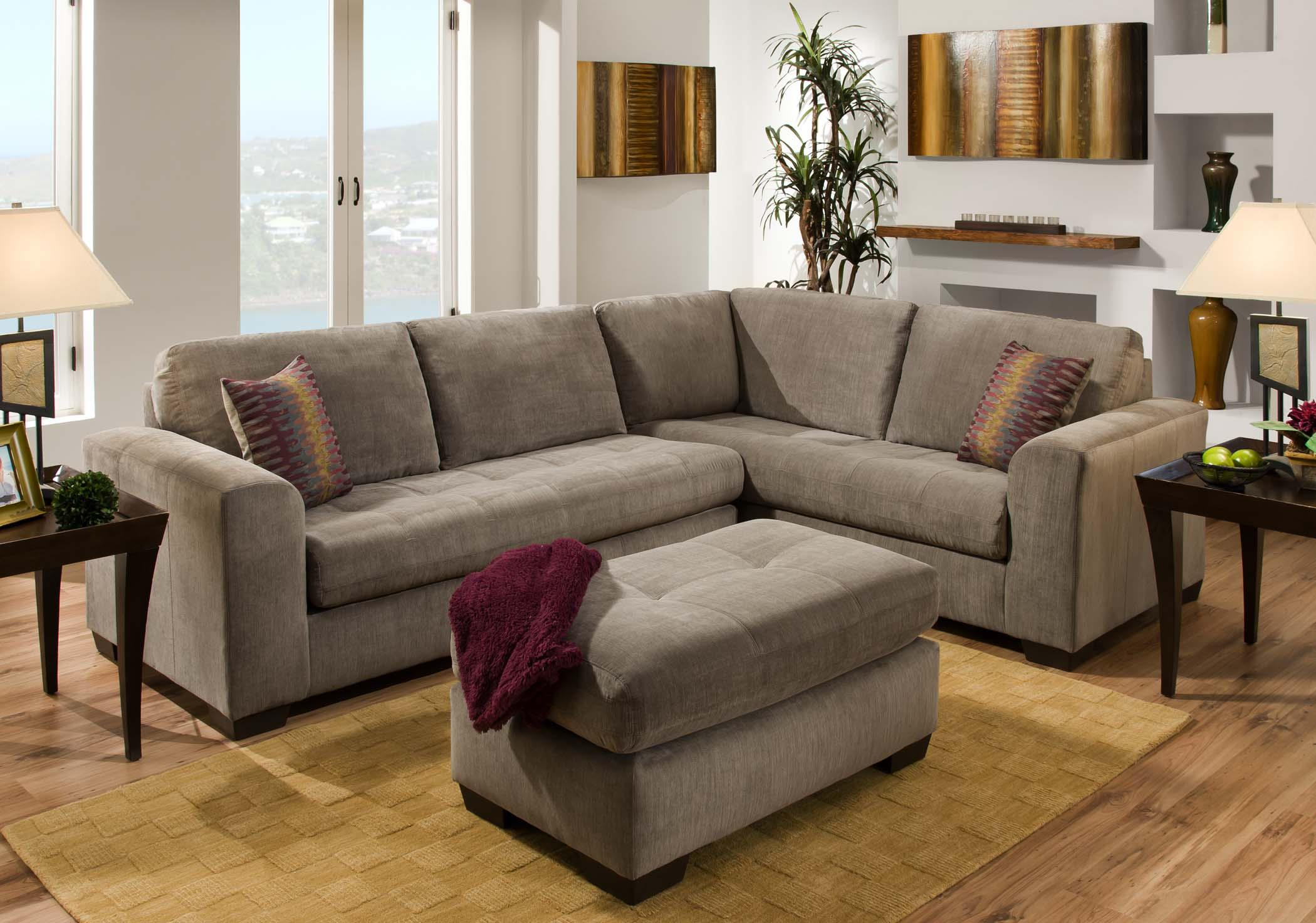 Contemporary Sectional Sofa With Corner Construction   1230 By American  Furniture   Wilcox Furniture   Sectional Sofas Corpus Christi, Kingsville,  Calallen, ...