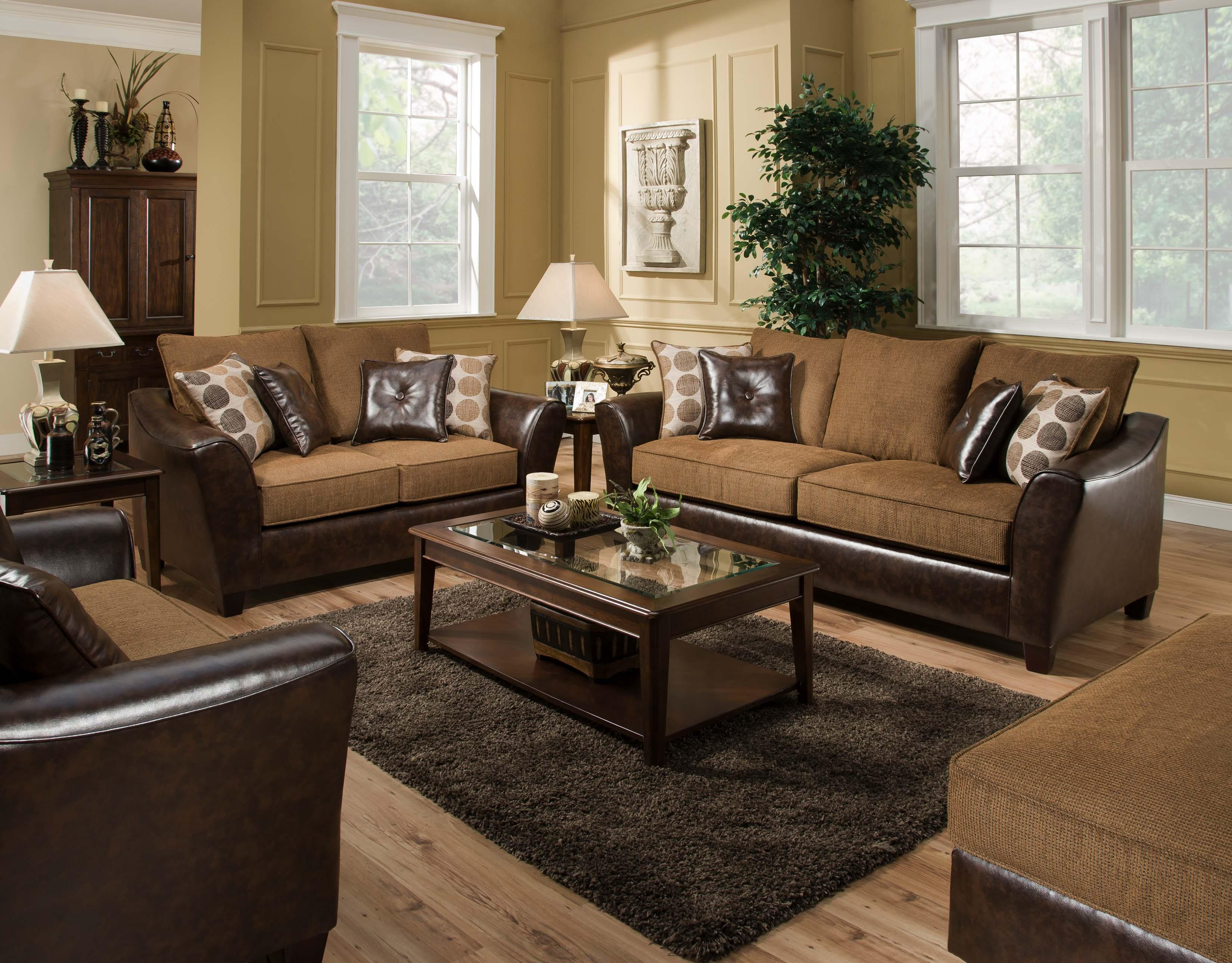 American Furniture 3200 Group Stationary Living Room Group - Item Number: 4820 Living Room Group 1
