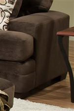 Thick Track Arms Enhance the Contemporary Style of this Collection