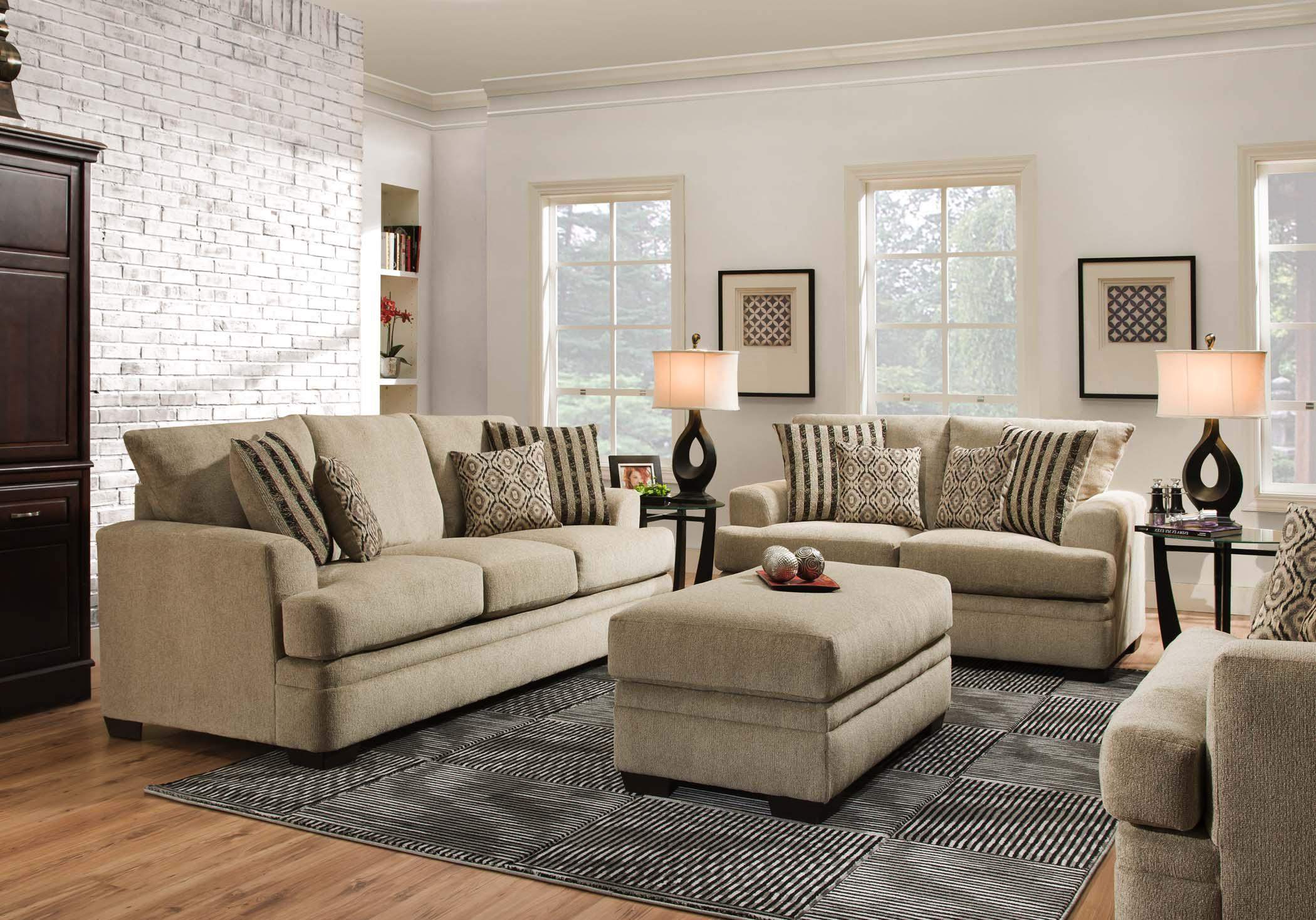 Casual Sofa with 3 Seats 3650 by American Furniture Wilcox
