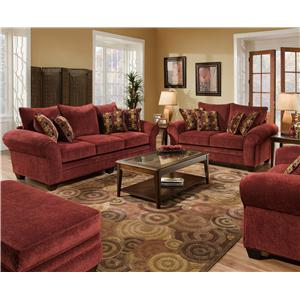 American Furniture 3700 Stationary Living Room Group