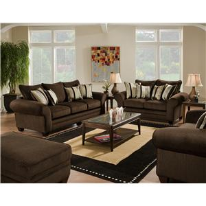 3700 Stationary Living Room Group by American Furniture