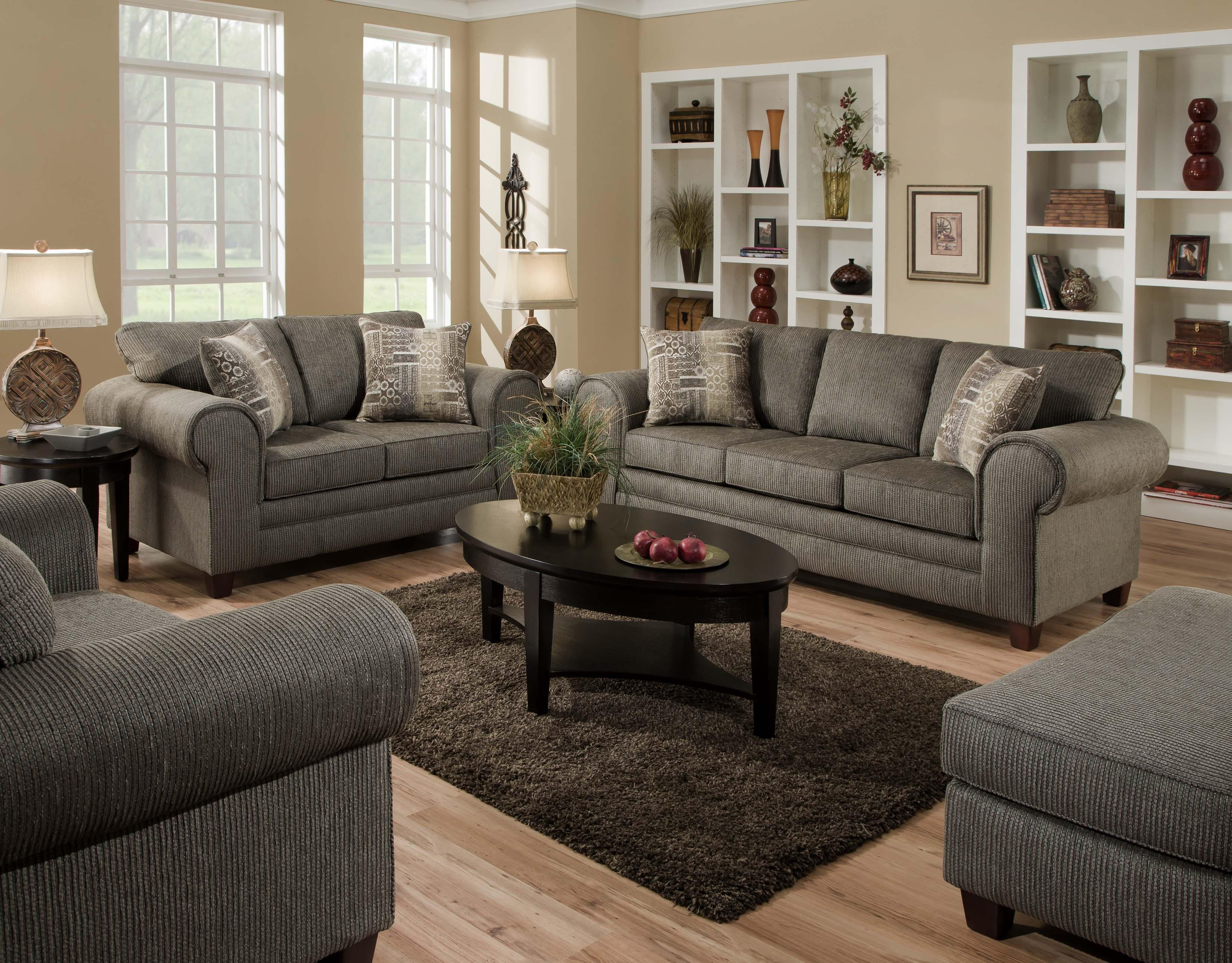 American Furniture 3750  Stationary Living Room Group - Item Number: 5750 Graphite Living Room Group 1