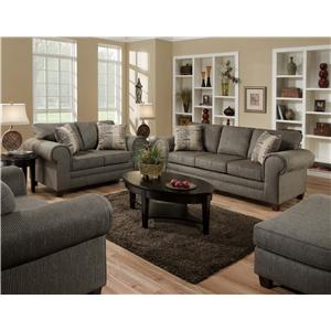 American Furniture 3750  Stationary Living Room Group