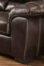 Pillow Topped Arm-Rests Enhance the Comfort of the Items in this Collection