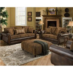 American Furniture 5850 Stationary Living Room Group