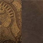 Isle Tobacco Upholstery is a Combination of a Rich Brown and Golden-Tan Paisley Print