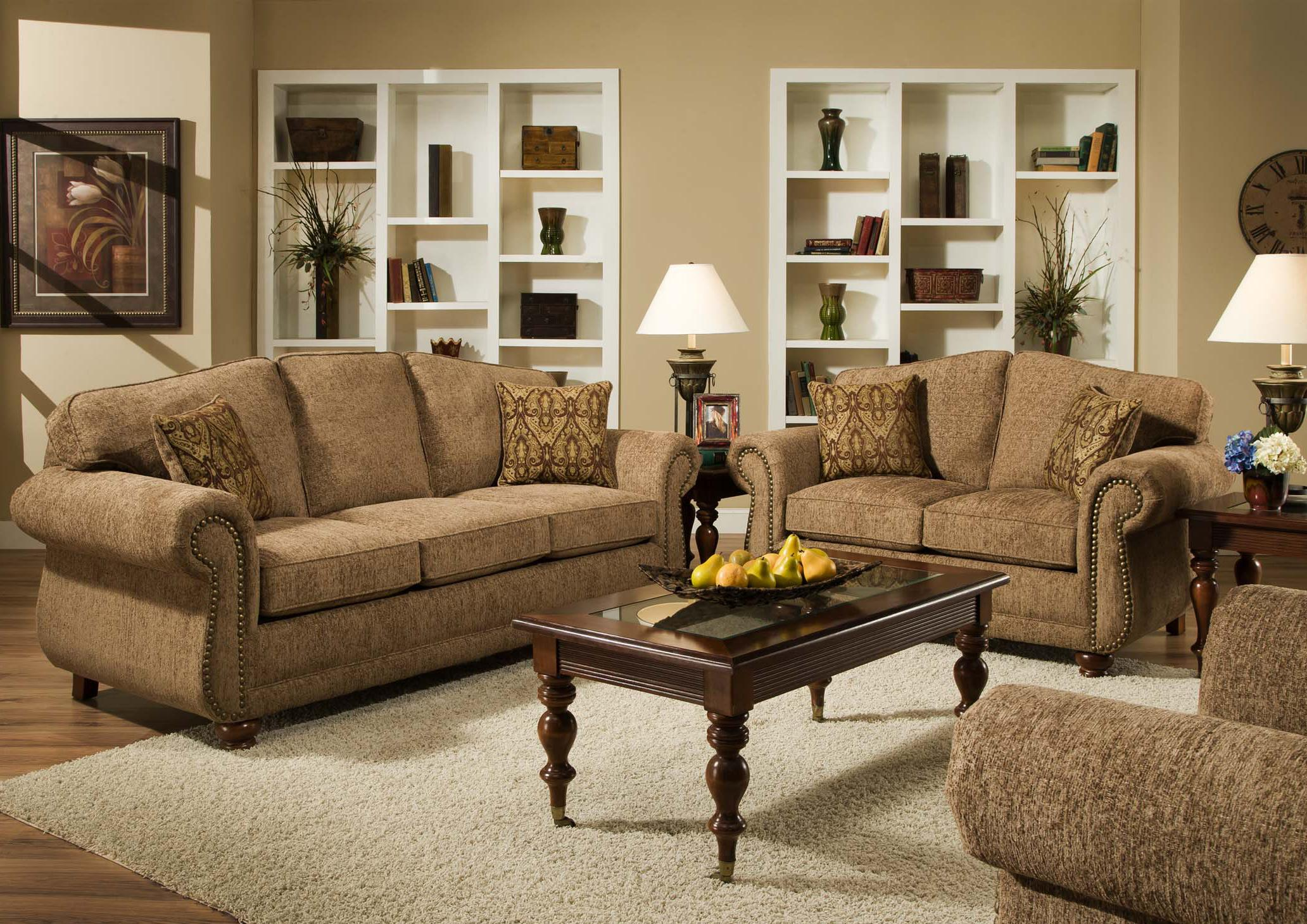 Traditional Loveseat with Nail Head Trim 6000 by American