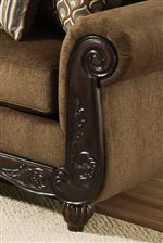 Carved Wood Accents Provide Classic Decoration