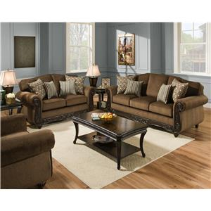 American Furniture 6700 Stationary Living Room Group