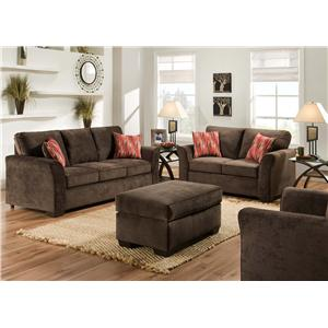 american furniture 7670 stationary living room group american living room furniture
