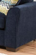 Flaired Track Arms Accent Items in this Collection with a Casual Elegance