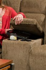 Built-In Cup-Holders and a Storage Console in the Loveseat add Convenience to this Collection