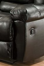 Plush Padded Pillow-Topped Arms Blend with Smooth Sides for a Contemporary Ambiance