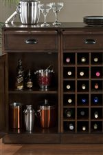 Use Modular Pieces to Form Wine Cabinet