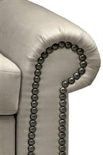Large Roll Arm with Nailhead Trim