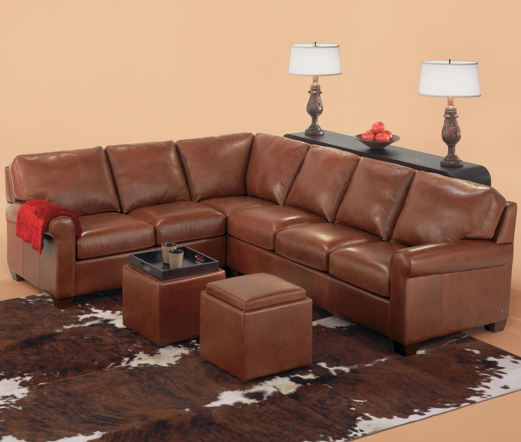 American Leather Savoy Contemporary 3 Piece Sectiona Saugerties