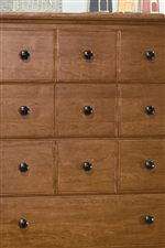 Shaped Drawer Fronts with a Spice-Box-Look Top Drawers