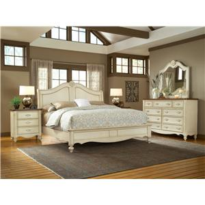 American Woodcrafters Chateau Queen Bedroom Group