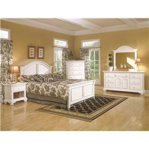 American Woodcrafters Cottage Traditions King Bedroom Group