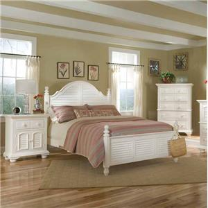 American Woodcrafters Cottage Traditions Queen Bedroom Group