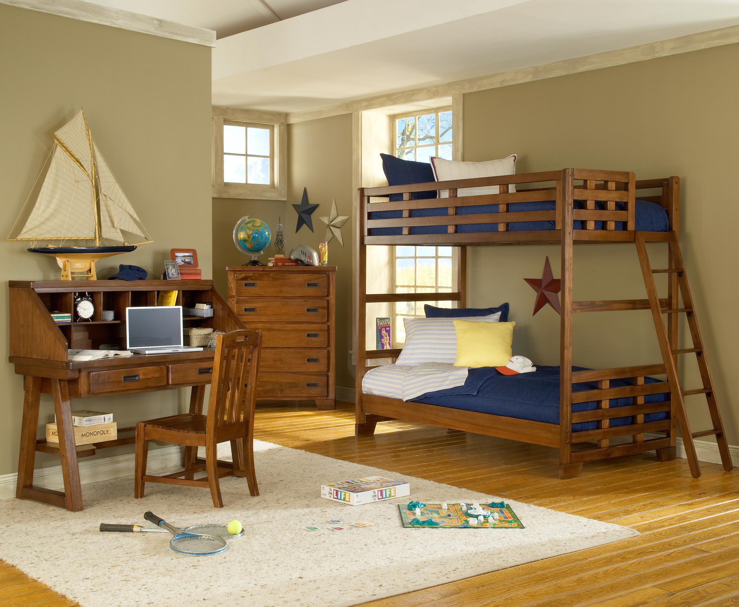 American Woodcrafters Heartland  Twin Over Twin Bunk Bedroom Group - Item Number: 1800 T Bedroom Group 1