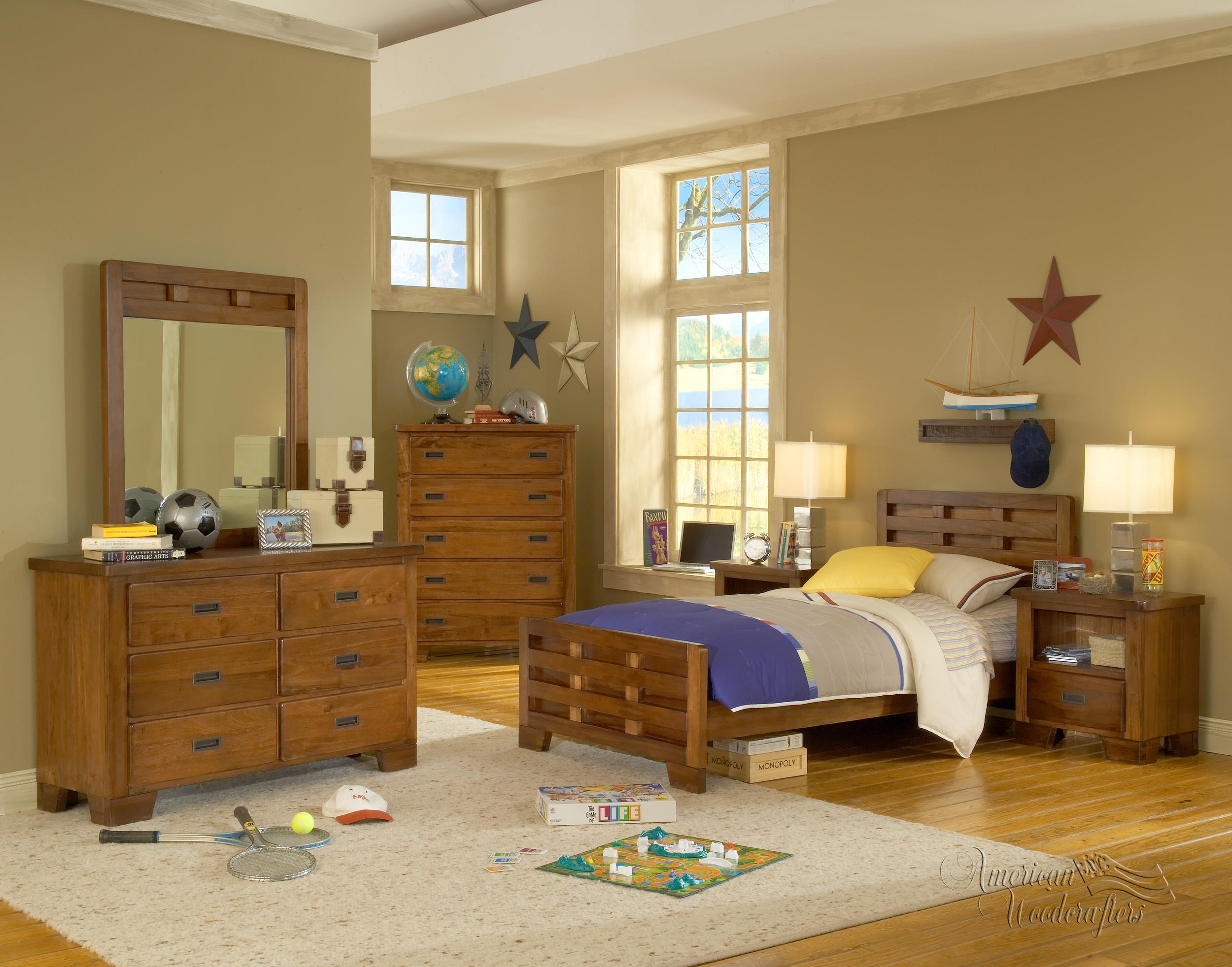 American Woodcrafters Heartland  Twin Bedroom Group - Item Number: 1800 T Bedroom Group 3