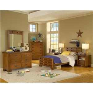 American Woodcrafters Heartland  Full Bedroom Group