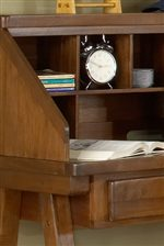Storage Units within Desk Hutch