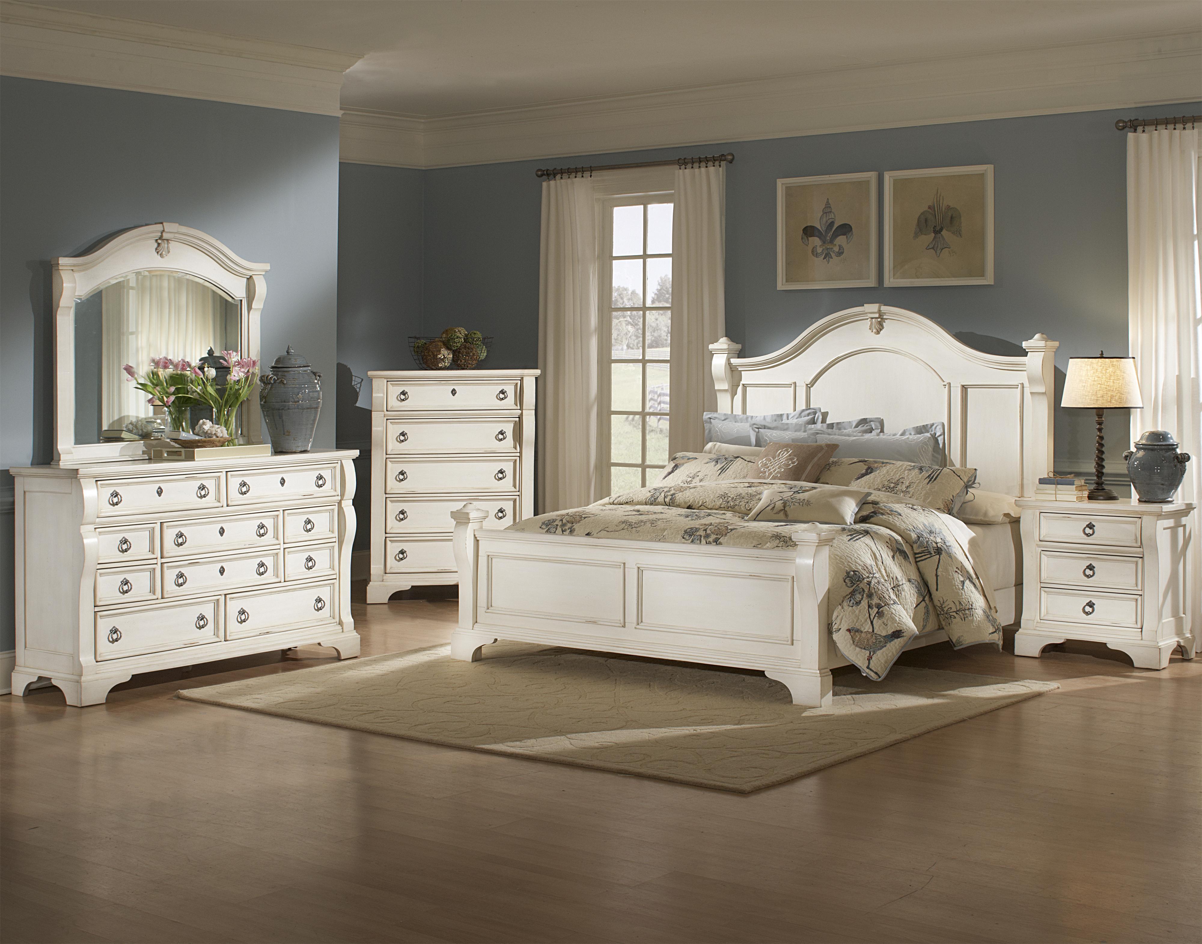 American Woodcrafters Heirloom Queen Bedroom Group - Item Number: 2910 Q Bedroom Group 1
