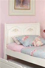 Raised Shaped Panels on Bed with Floral Detailing