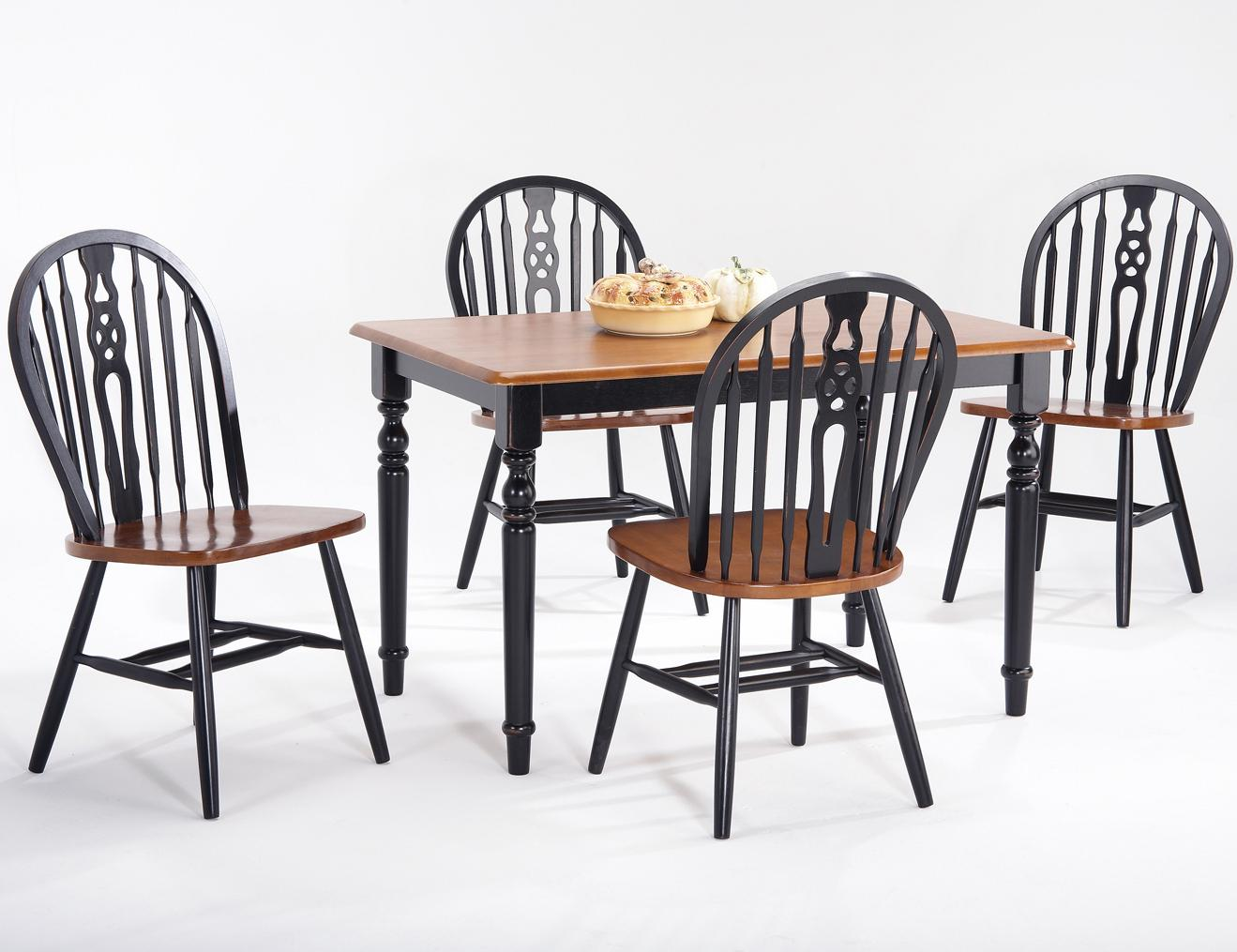 Amesbury Chair Farmhouse And Traditional Windsor Drop Leaf Pedestal Round  Table | SuperStore | Kitchen Table