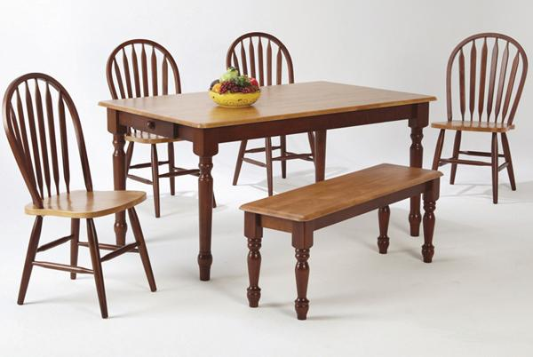 Amesbury Chair Newbury And Kensington Contemporary Dining Sets Two Tone  Rectangular Dining Table With Turned Legs | SuperStore | Dining Room Table