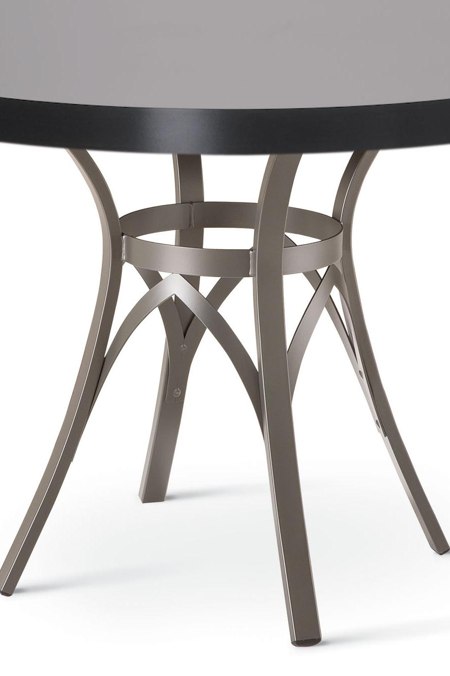 Amisco Kai Dinette Round Dining Table with Interlaced Metal Pedestal ...