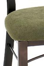 Chairs Upholstered in Moss-Colored Fabric