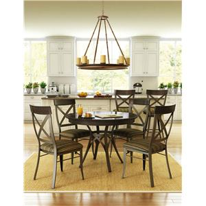 Amisco Kai Dinette Contemporary Five Piece Dining Set