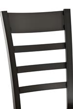 Chair Features Ladder Back Design