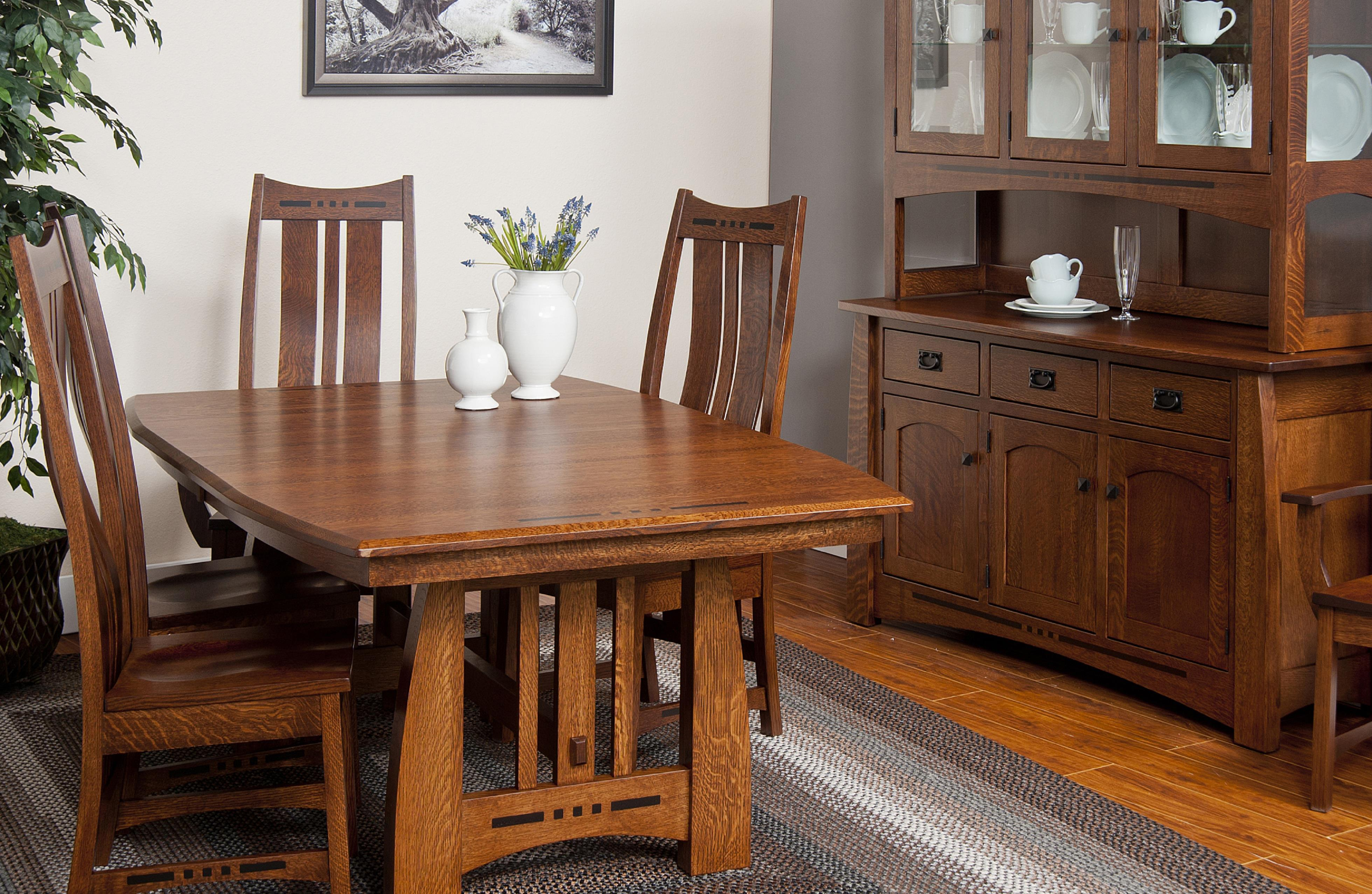 Indiana Amish Owen Table 4 Chairs