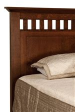 Headboard with Soft Panel Detail and Small Slats