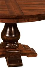 Curvaceous Pedestal Table Base