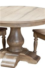 Curvaceous Pedestal Table Base