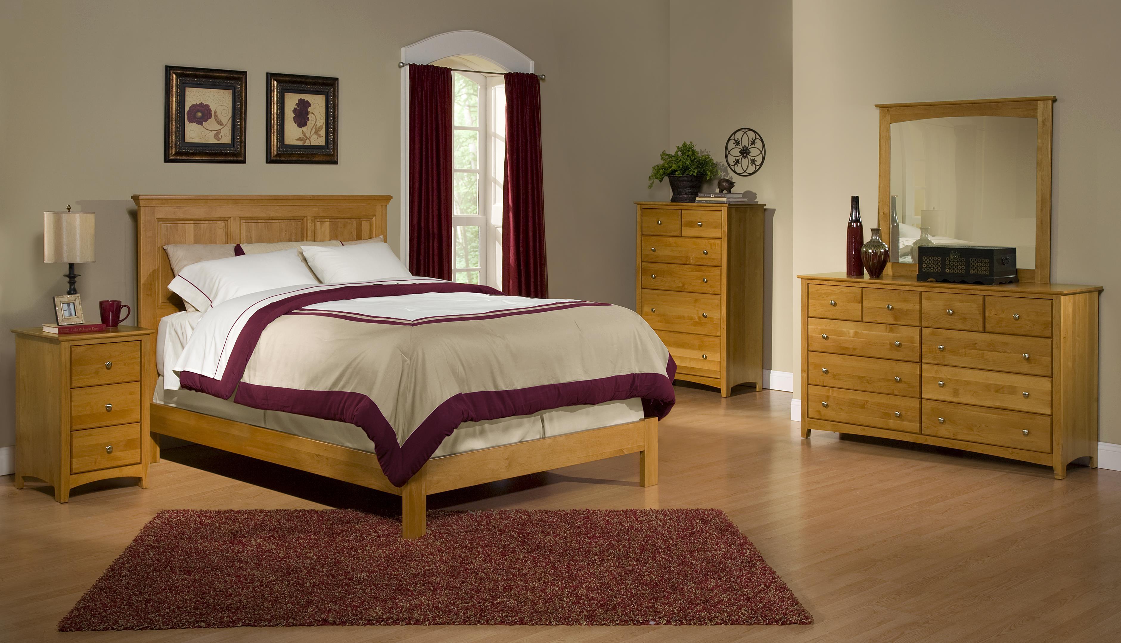 Shaker Bedroom Furniture Archbold Furniture Alder Shaker Queen Flat Panel Chest Bed With 9