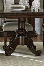 Traditional Pedestal on Double Pedestal Table