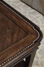 Nailhead on Table Top of Select Occasional Pieces