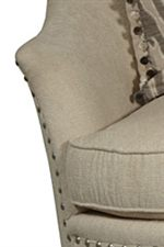 Shaped, Flared Arms with Nailhead Trim