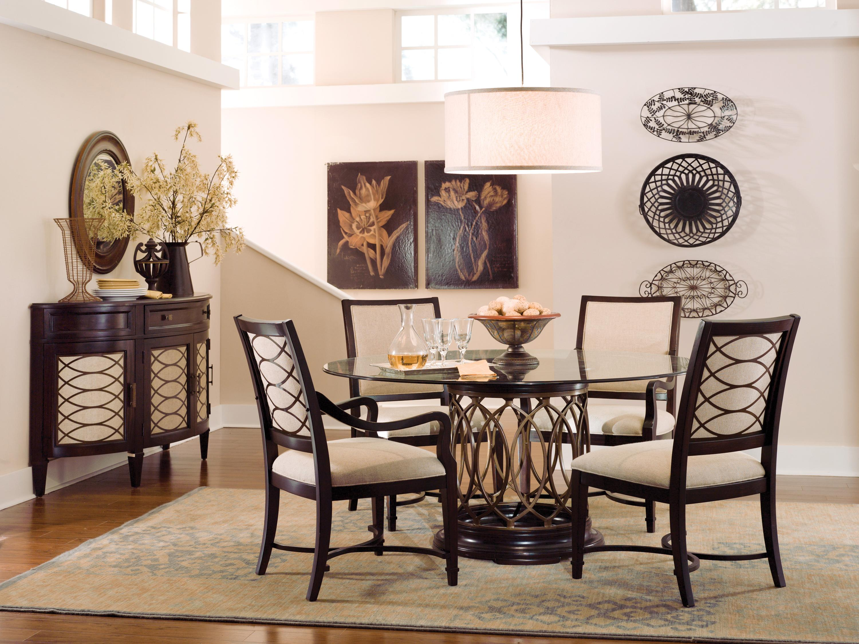 A r t furniture inc intrigue formal dining room group for A r t dining room furniture