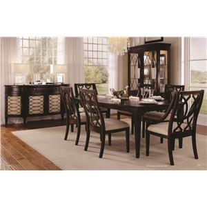 Belfort Signature Bolbrook Flip Top Sofa Table with Metal Marquise Fretwork